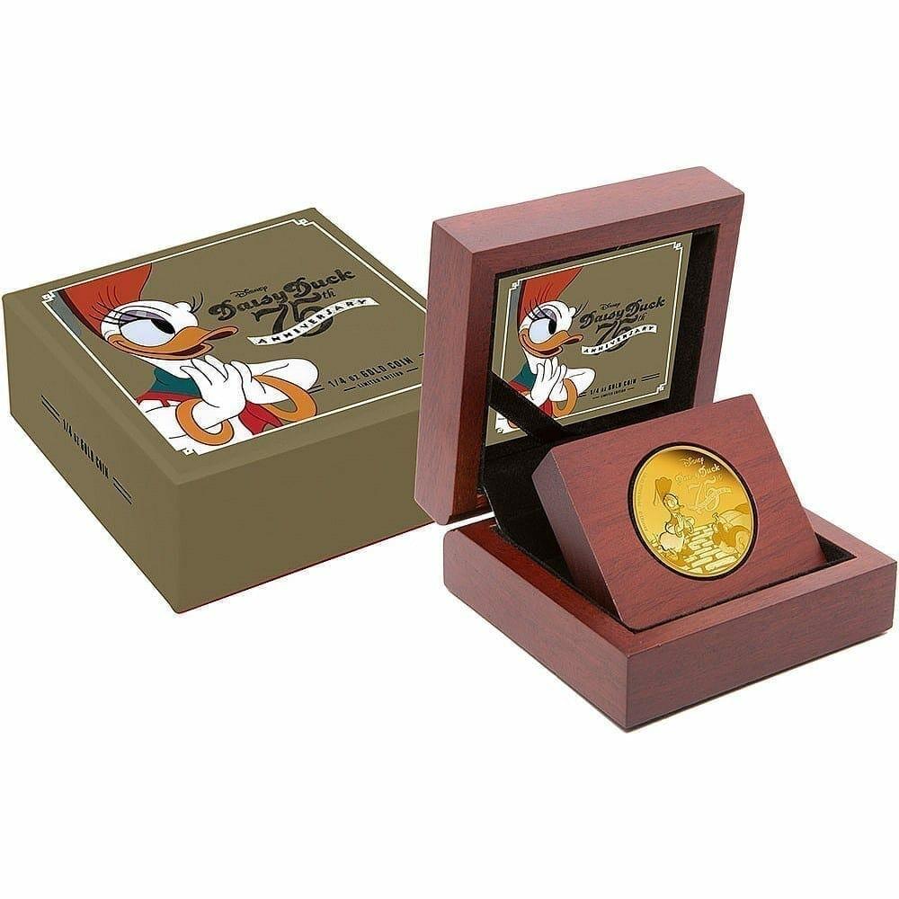 2015 Disney Daisy Duck 75th Anniversary 1/4oz .9999 Gold Proof Coin 4