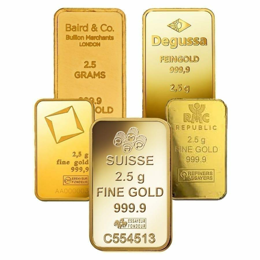 Low Premium 2.5g Gold Bullion 1