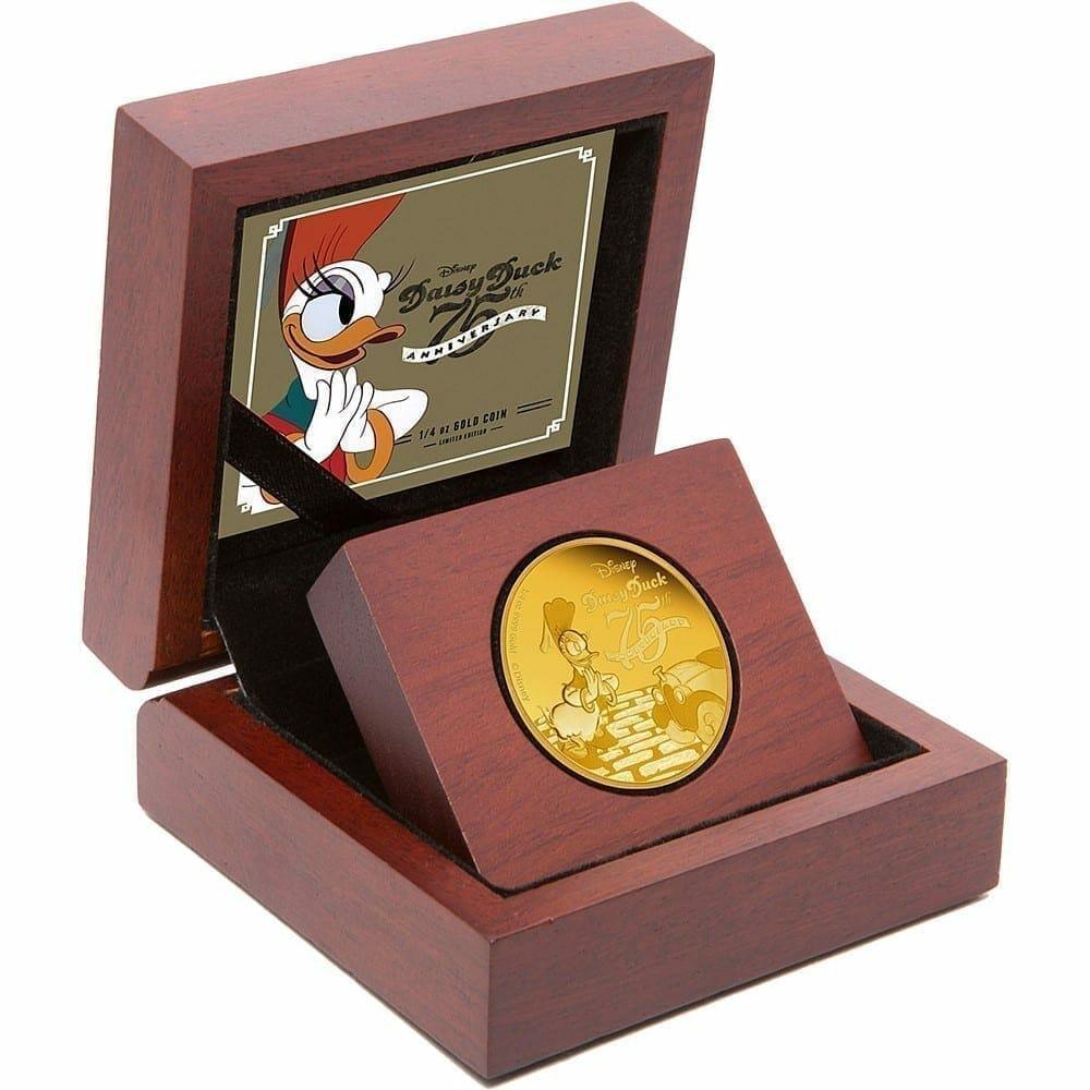 2015 Disney Daisy Duck 75th Anniversary 1/4oz .9999 Gold Proof Coin 2
