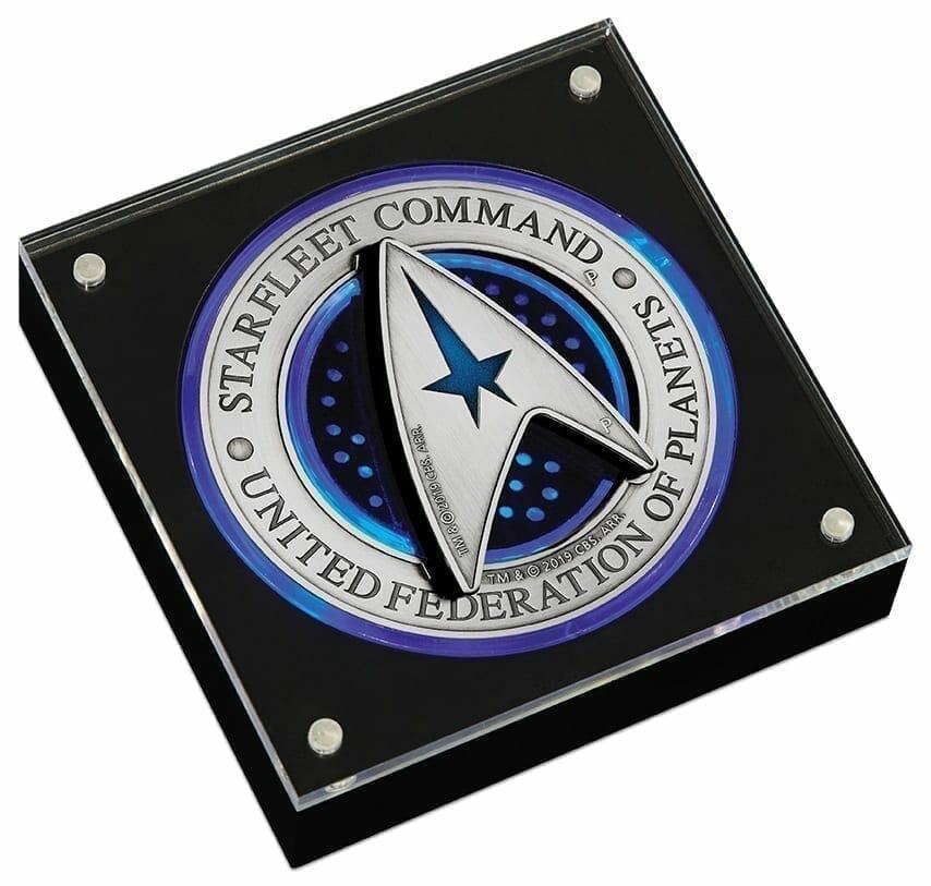 2019 Starfleet Command Emblem 3oz Silver Holey Dollar & Delta Coin Set 3