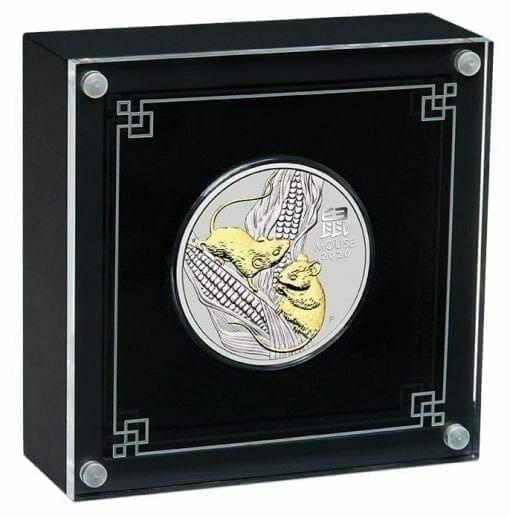 2020 Year of the Mouse 1oz .9999 Gilded Silver Coin - Lunar Series III 4