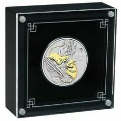 2020 Year of the Mouse 1oz .9999 Gilded Silver Coin - Lunar Series III 8