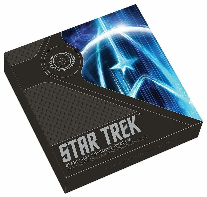 2019 Starfleet Command Emblem 3oz Silver Holey Dollar & Delta Coin Set 15