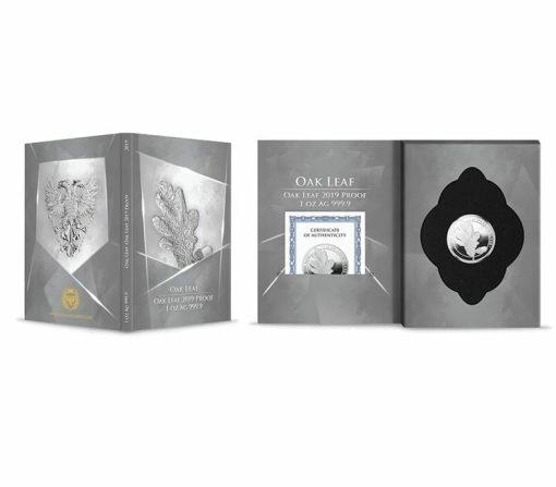 2019 Oak Leaf 1oz .9999 Silver Proof Coin 3