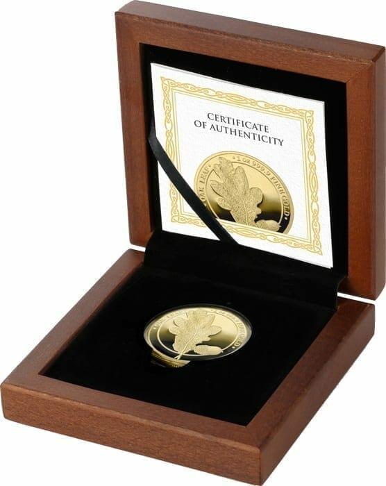 2019 Oak Leaf 100 Mark 1oz .9999 Gold Proof Coin 3