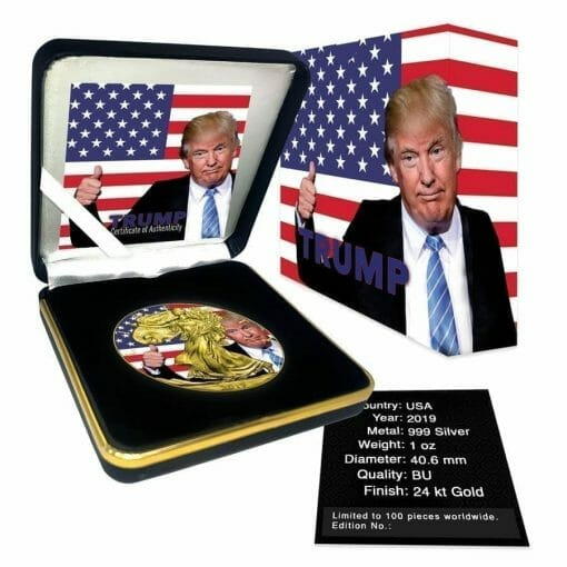 2019 Donald Trump Thumbs Up - American Eagle 1oz Silver Coin 3