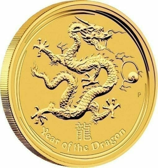 2012 Year of the Dragon 1/20oz .9999 Gold Bullion Coin - Lunar Series II 2