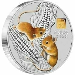 2020 Year of the Mouse 1 Kilo Silver Coin with Gold Privy Mark - Lunar Series III 7
