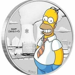 2020 The Simpsons - Homer Simpson Coloured 1/2oz Silver Coin in Black Card 8