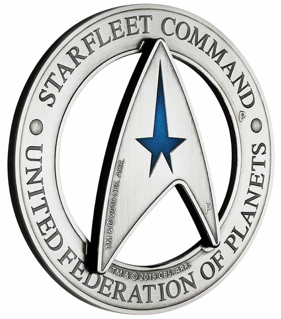 2019 Starfleet Command Emblem 3oz Silver Holey Dollar & Delta Coin Set 2