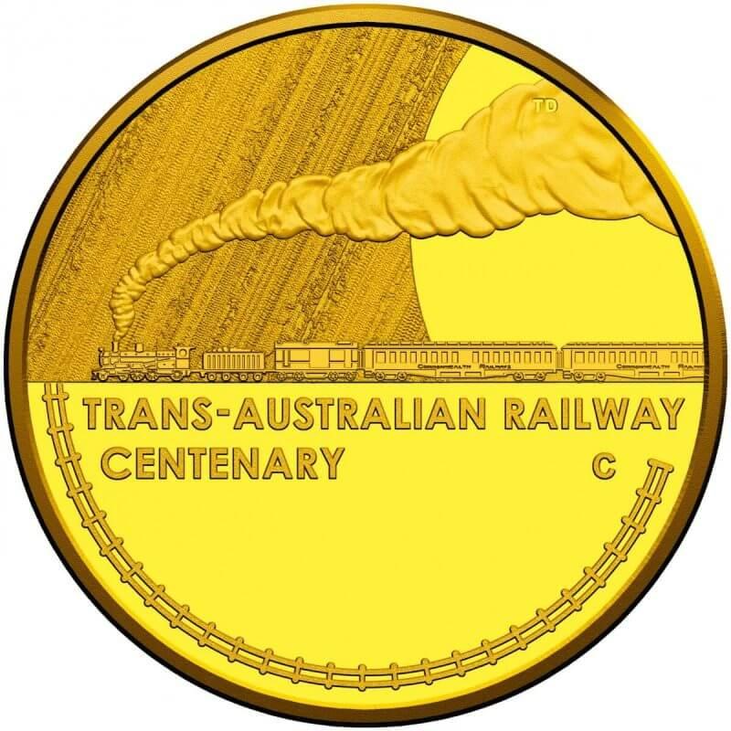 2017 Centenary of the Trans-Australian Railway 1/10oz Gold Proof Coin 1