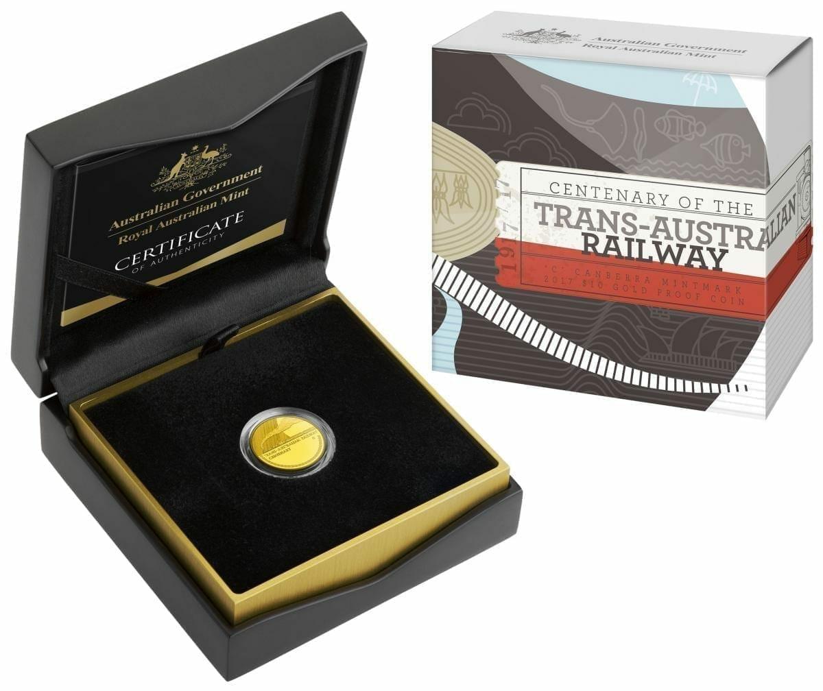 2017 Centenary of the Trans-Australian Railway 1/10oz Gold Proof Coin 3