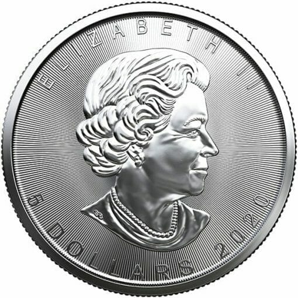 2020 Maple Leaf 1oz .9999 Silver Bullion Coin 2