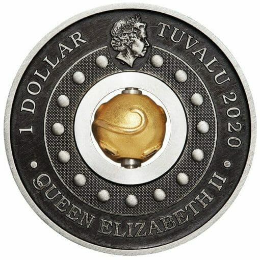 2020 Year of the Mouse Rotating Charm 1oz .9999 Silver Proof Antiqued Coin 4