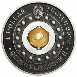 2020 Year of the Mouse Rotating Charm 1oz .9999 Silver Proof Antiqued Coin 9