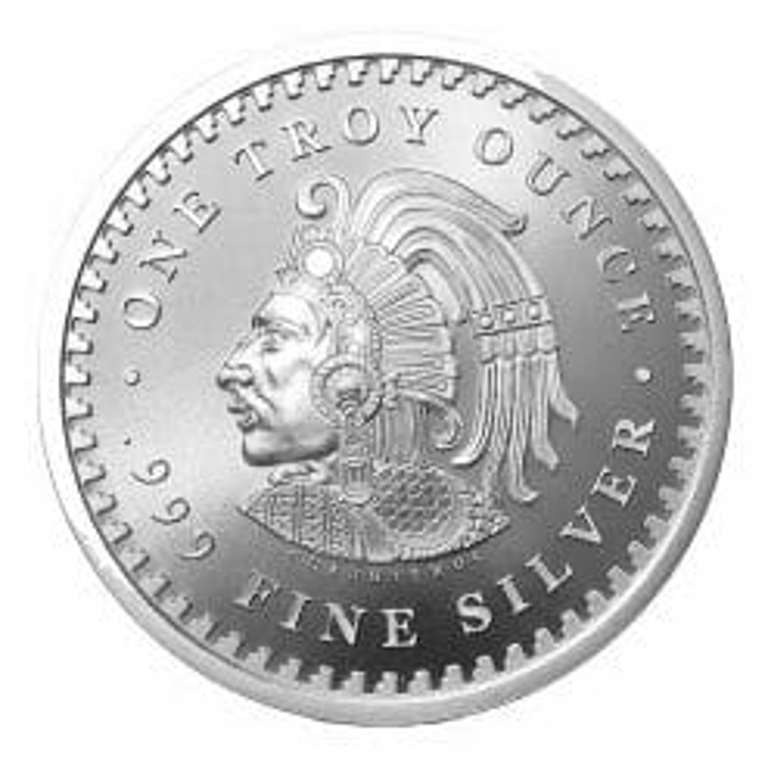 Aztec Calendar 1oz .999 Silver Round 3