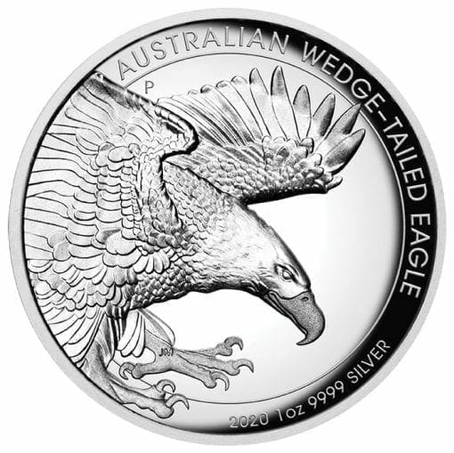 2020 Australian Wedge-Tailed Eagle 1oz .9999 Silver Proof High Relief Coin 1