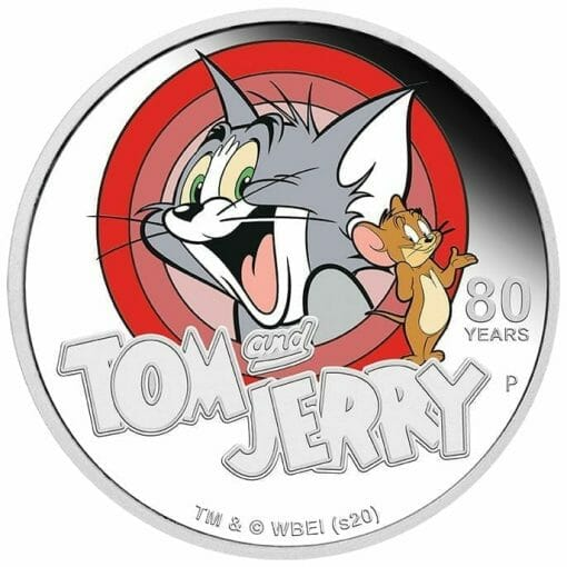 2020 Tom & Jerry 80th Anniversary 1oz .9999 Silver Proof Coin 1