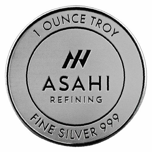 Asahi Refining 1oz .999 Silver Round 1