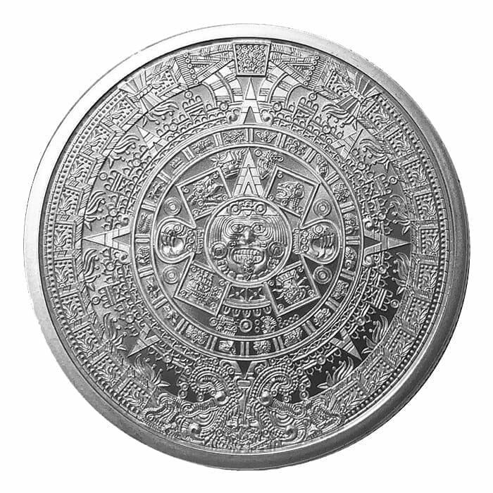 Aztec Calendar 1oz .999 Silver Round 1