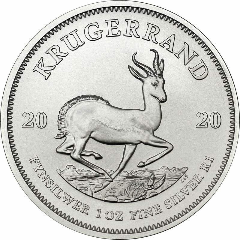 2020 Silver Krugerrand 1oz .999 Silver Bullion Coin Monster Box (500 Coins) 2