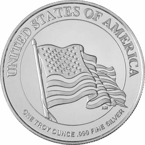 """Uncle Sam """"I Want You!"""" 1oz .999 Silver Round 2"""