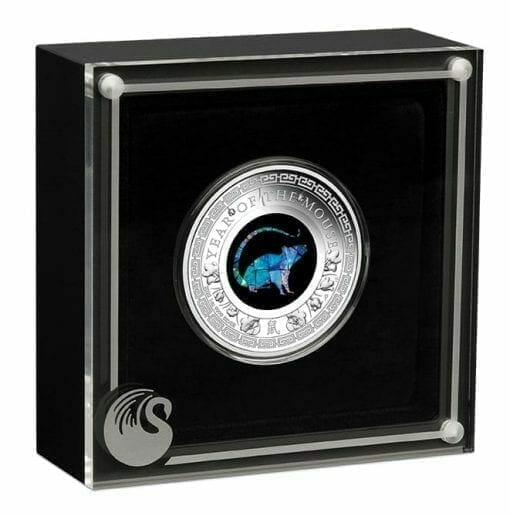 2020 Opal Year of the Mouse 1oz .9999 Silver Proof Coin 4