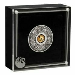 2020 Year of the Mouse Rotating Charm 1oz .9999 Silver Proof Antiqued Coin 10