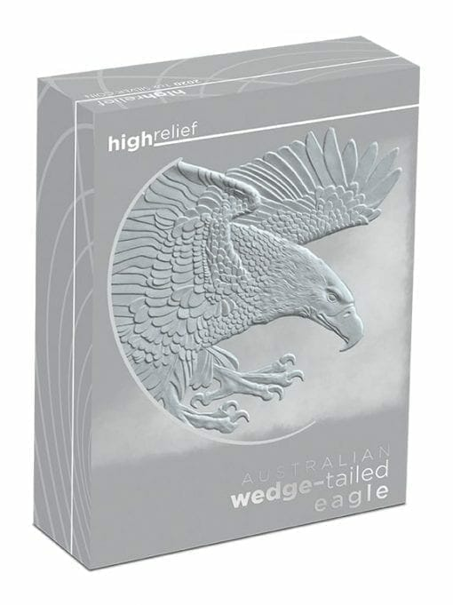 2020 Australian Wedge-Tailed Eagle 1oz .9999 Silver Proof High Relief Coin 5