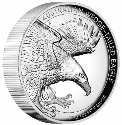 2020 Australian Wedge-Tailed Eagle 1oz .9999 Silver Proof High Relief Coin 2