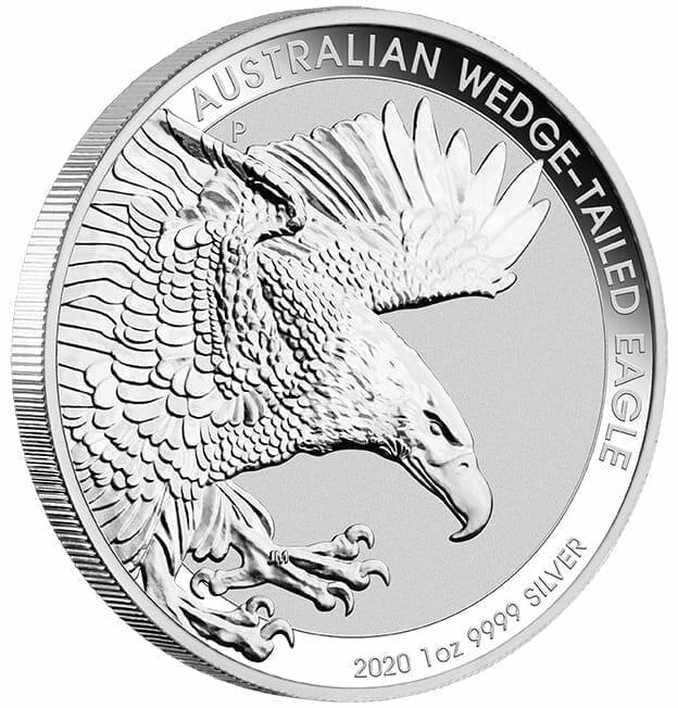 2020 Australian Wedge-Tailed Eagle 1oz .9999 Silver Bullion Coin 4