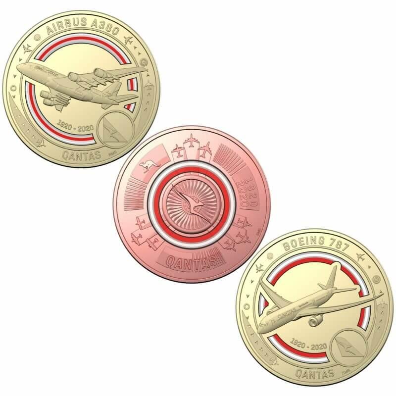 2020 Qantas Centenary 11 $1 Coloured Coin Uncirculated Set 6