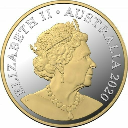 2020 $1 Mob of Roos - Selectively Gold Plated 5oz Silver Proof Coin 2