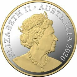 2020 $1 Mob of Roos - Selectively Gold Plated 5oz Silver Proof Coin 6