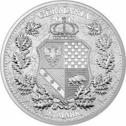 2019 The Allegories - Columbia & Germania 5oz .9999 Silver Coin 7