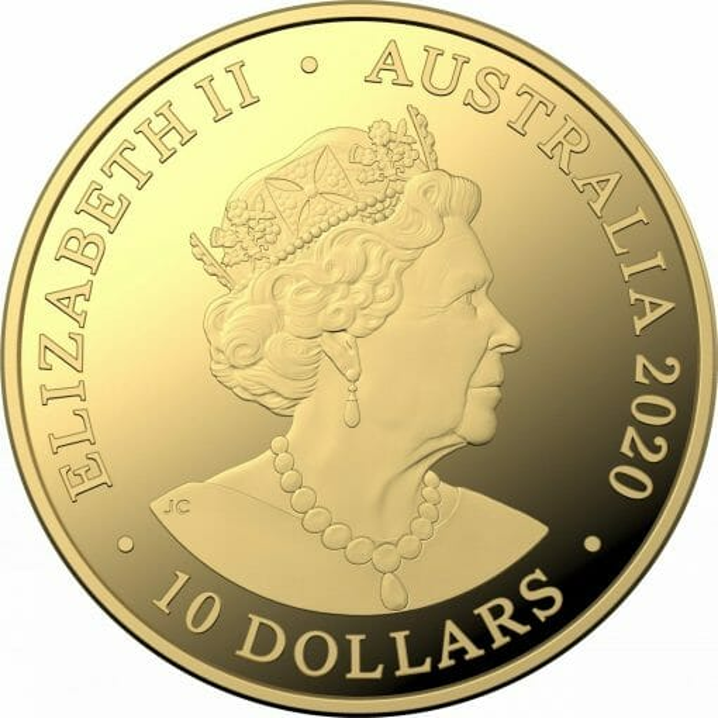 2020 Eureka! Australia's Gold Rush 1/10oz .9999 Gold Proof 'C' Mintmark Coin 2