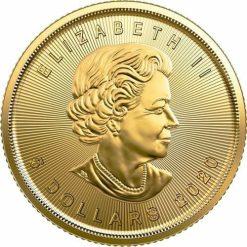 2020 Maple Leaf 1/10oz .9999 Gold Bullion Coin 3