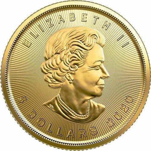 2020 Maple Leaf 1/10oz .9999 Gold Bullion Coin 2
