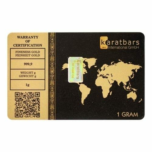 Karatbars 1g .9999 Gold Bullion Bar 3