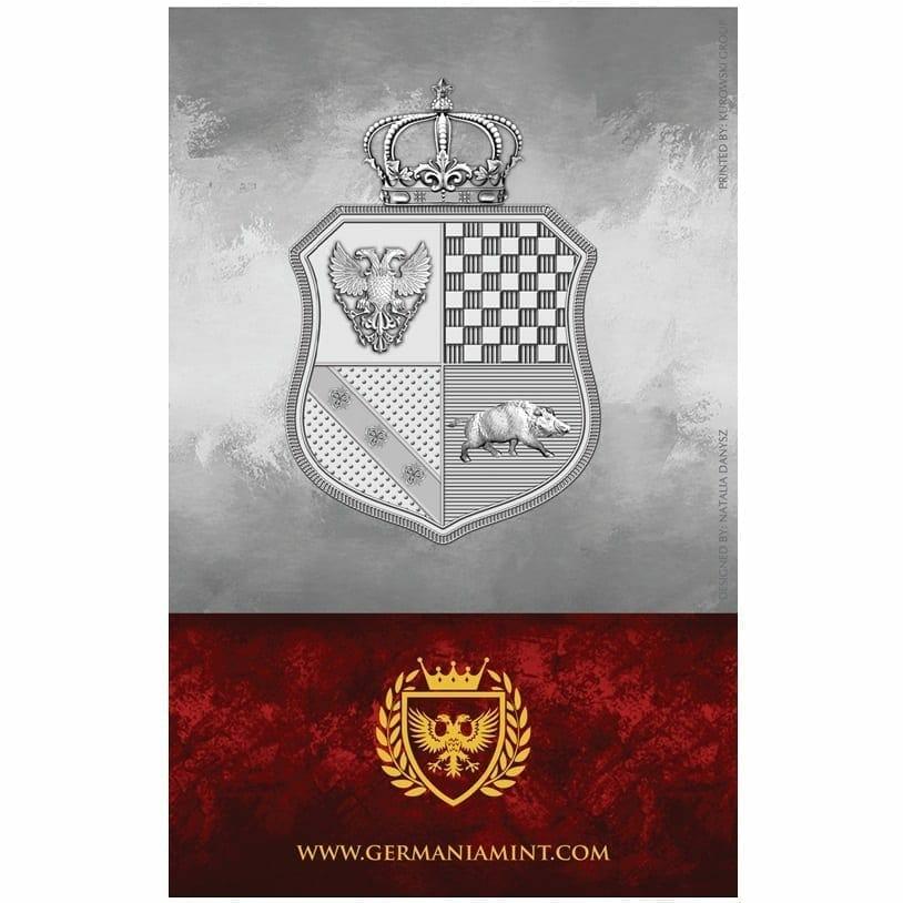 2019 The Allegories - Columbia & Germania 1oz .9999 Silver Coin - World Money Fair Exclusive 2