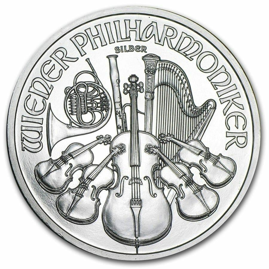 2011 Austrian Philharmonic 1oz .999 Silver Bullion Coin 2