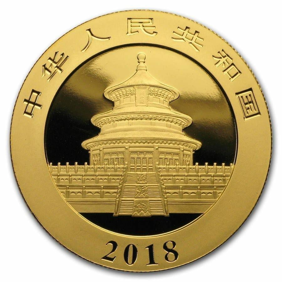 2018 Chinese Gold Panda 30g .999 Gold Bullion Coin 3