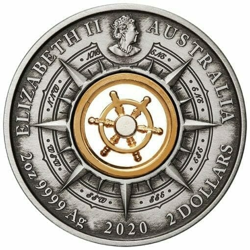 2020 Voyage of Discovery - Endeavour 1770-2020 2oz .9999 Silver Antiqued Coin 3