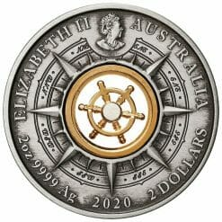 2020 Voyage of Discovery - Endeavour 1770-2020 2oz .9999 Silver Antiqued Coin 7