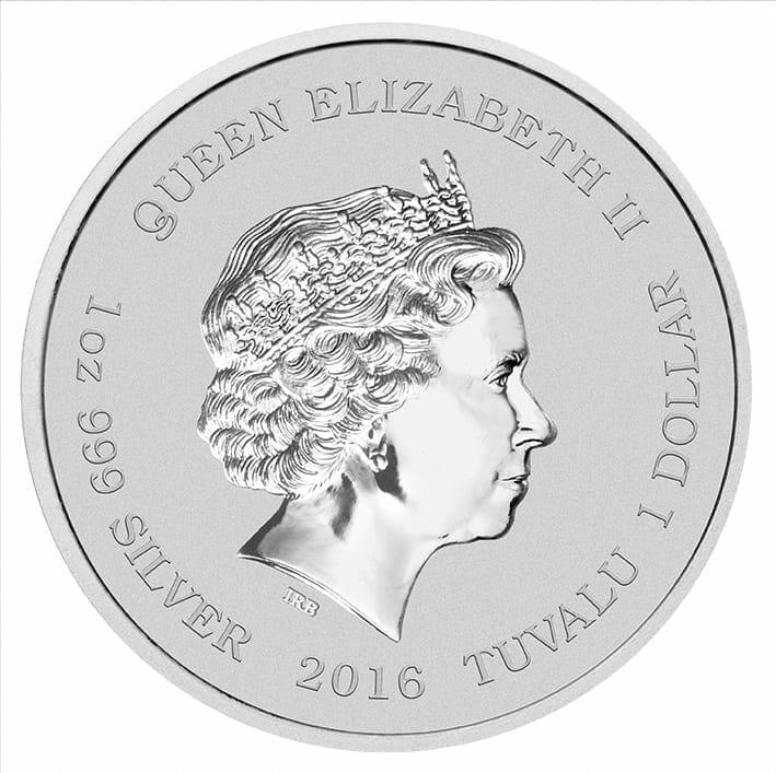 2016 Star Trek USS Enterprise NCC-1701 1oz .999 Silver Coin in Card 7