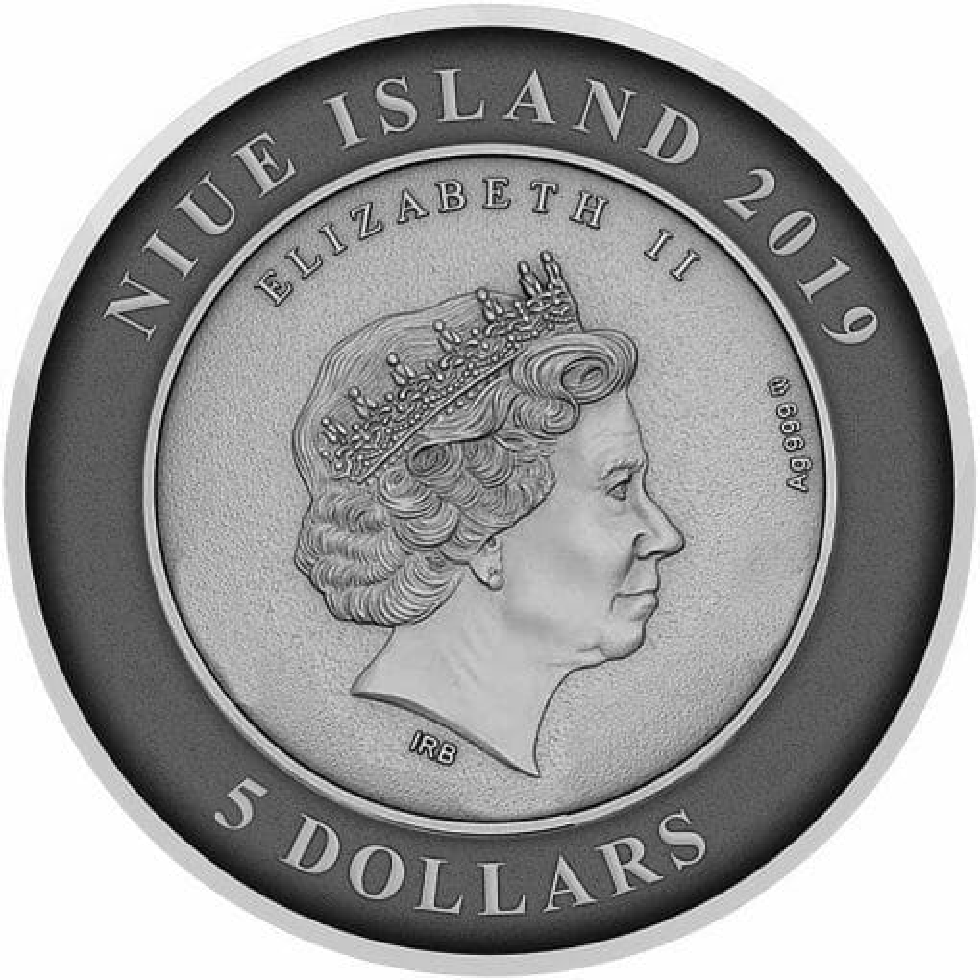 2019 Atlantis - The Sunken City 2oz .999 Antiqued Silver Coin 4