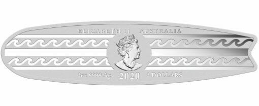 2020 Surfboard 2oz .9999 Coloured Silver Proof Coin 3