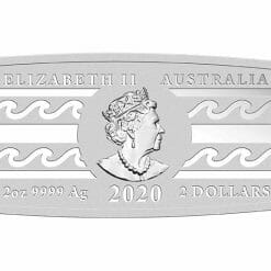2020 Surfboard 2oz .9999 Coloured Silver Proof Coin 7
