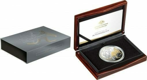 2020 $1 Mob of Roos - Selectively Gold Plated 5oz Silver Proof Coin 4
