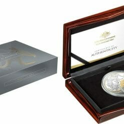 2020 $1 Mob of Roos - Selectively Gold Plated 5oz Silver Proof Coin 8